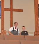 My big boy, Eli, getting baptized.